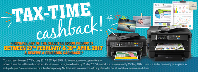 Epson Tax-Time Cashback