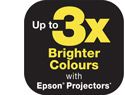 3x Brighter Colours with Epson*