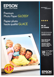 Epson Photo Paper 255gsm Premium Gloss A3 Sheet Media (20pcs)