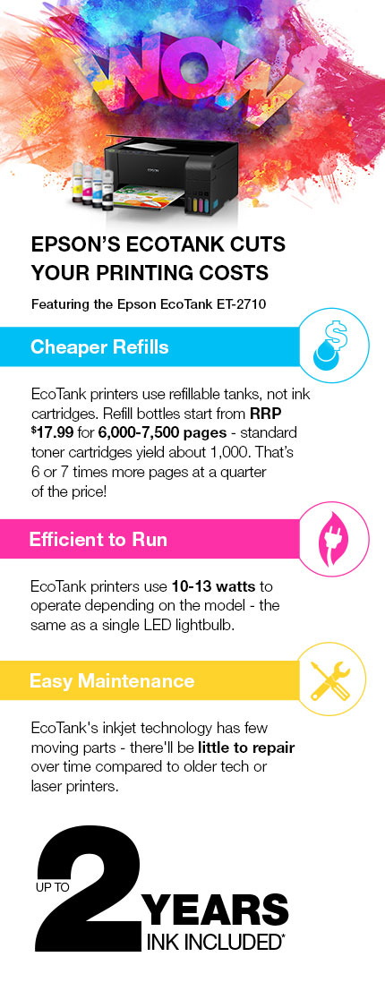 Epson Ecotank Cuts Your Printing Costs