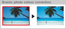 Scenic photo colour correction